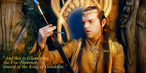Elrond - Glamdring by mithrialxx