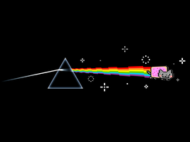 Dark Side of Nyan Wallpaper by Davidwoodfx