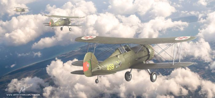 Portuguese air force gloster gladiators by rOEN911
