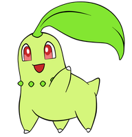 PKM Starter Group Collab: Chikorita by Beagon