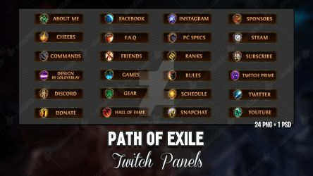 Path Of Exile - Twitch Panels by lol0verlay