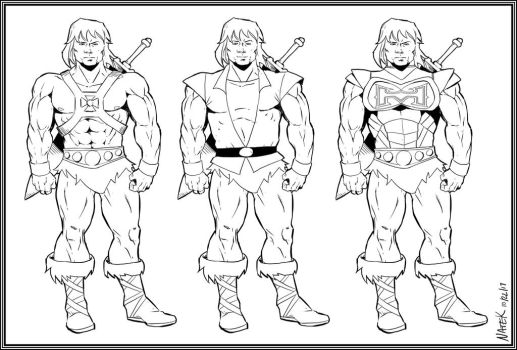 He-Man Variants by NathanKroll