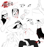 Kisame Sketch Dump by LPilz