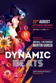 Dynamic Beats Flyer by styleWish