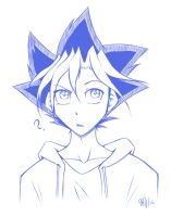 Yugi Sketch by BubblesRRJ