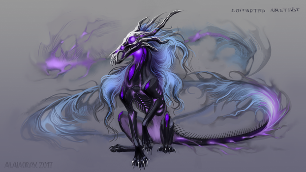 Corrupted amethyst design by Alaiaorax