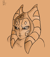 Ahsoka Sketch by Chyche