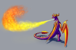 Scorching Flamethrower by IcelectricSpyro