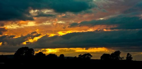 Sunset Over Stirling by BusterBrownBB