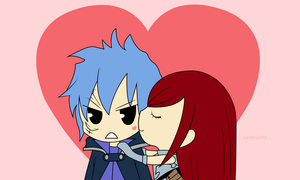 Chibi Jellal x Erza - Fairy Tail [Photoshop] by Serenarla