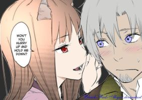 Horo and Lawrence by Bleach-Red-Abyss3