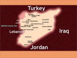 Titled Syria Map by Halab