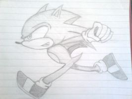 a sketch of sonic by jharris5398