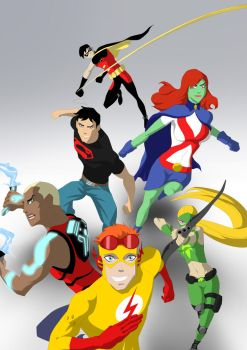 WIP young justice by KAngelis