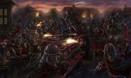 battle of Hodow by propagangjah