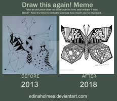 Draw This Again Meme - Butterfly by edinaholmes