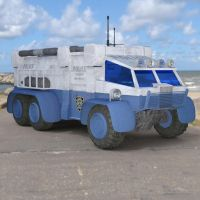 Sci Fi Truck on a Road by VanishingPointInc