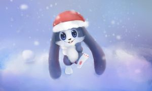 Christmas bunny by Bunnies-Sinensis
