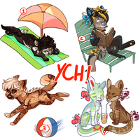 Summer Plumerian YCH-- ALL SOLD!! by SilenceArtist