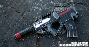 Mass Effect 3 Themed Nerf Elite Rayven by JohnsonArmsProps