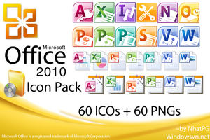 Microsoft Office 2010 IconPack by NhatPG