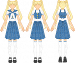 SMRedesign - Usagi School Uniform by StargazerSammie