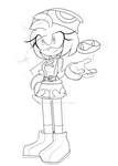 amitie amy doodle wip thing by EmeraldMaree