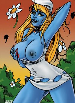SketchCard Smurfette Colour by TheBoo