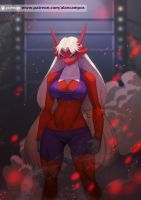 Angry Blaziken by playfurry