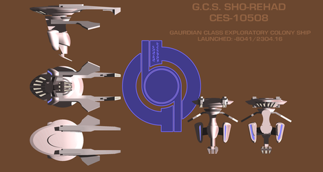 Sho-Rehad/ Guardian Class Colony ship by Terranimperial