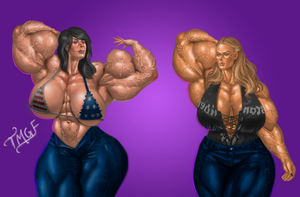 Huge | Commission by The-Muscle-Girl-Fan