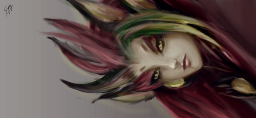 A Sketch, Zyra - Just a harmless flower by saystark