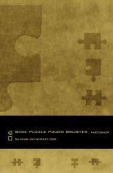 Base Puzzle Pieces Brush PS by silinias