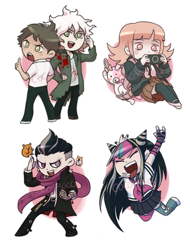 SDR2 Charms/Sticker preview for Boroughcon! by cocoaroco