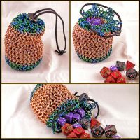 Copper Dice Bag by chainedoombaby