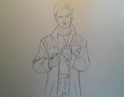 Star Lord Sketch by MikeES