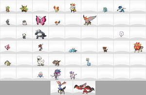 Pokemon XY Spritedex