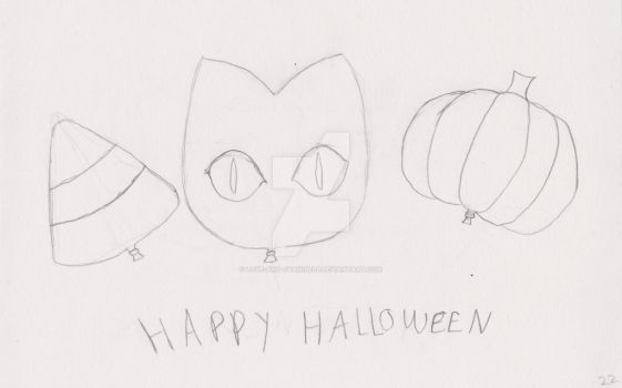 Sketchtober day 22- Halloween balloons by Love-And-Cyanide88