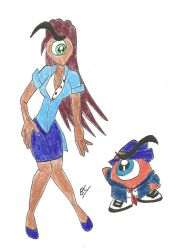 Mr. Cyclops and Mrs. Cyclops by BlackCarrot1129