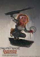 Lightfoot Halfling Rogue (Female) by Conceptopolis