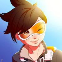 Tracer - Anime Portrait by rodrigues-feh
