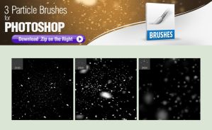 3 Particle Brushes for Photoshop by pixelstains