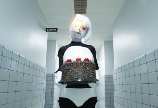 GLaDOS: The Cake Is a Lie by ember-ablaze
