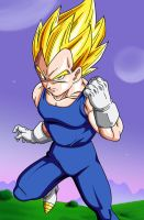 Poster #2: Vegeta Super Saiyan by Dark-Crawler