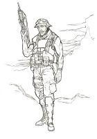 Military Lineart by eldibujante