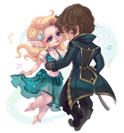 Xaviera And Corven by clover-teapot