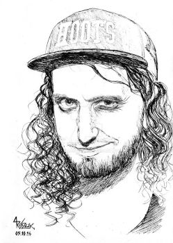 INKTOBER2016: DAY 5: Chris Bowes from Alestorm by Shamaanita