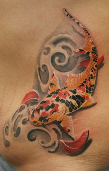 Japan koi fish tattoo by Remistattoo