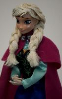 Frozen Heart - Anna OOAK doll by lulemee