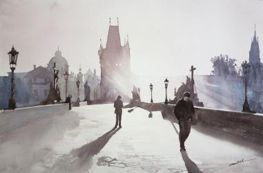 Charles Bridge, 38x56cm by NiceMinD